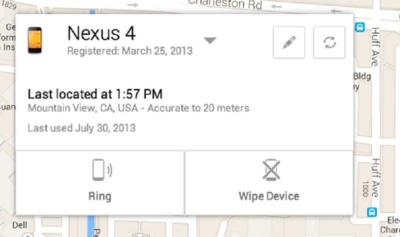 Android Device Manager: un sistema de seguridad muy practico
