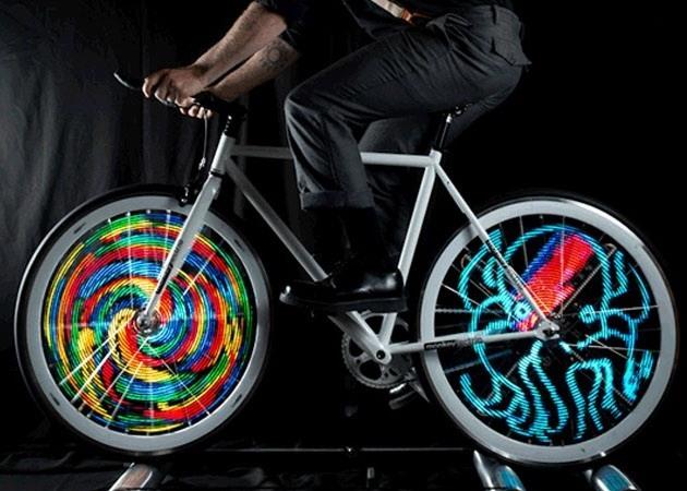Animaciones en la rueda de bicicleta con LEDS