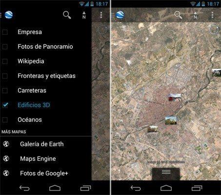 Google Earth 7.1.2 para Android nos permite ver nuestras fotos geolocalizadas de Google+