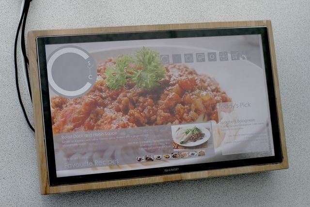 Sharp presenta el prototipo de una nueva tabla de cortar interactiva
