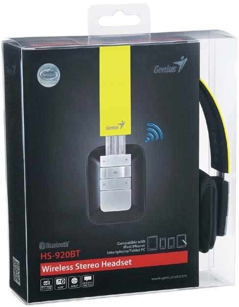 Genius incorpora dise�o, tecnolog�a Bluetooth, y audio espectacular en los nuevos auriculares multifuncionales