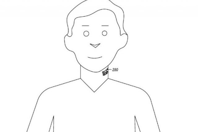 Patentes de Motorola lanza idea de micrófono pegado al cuello