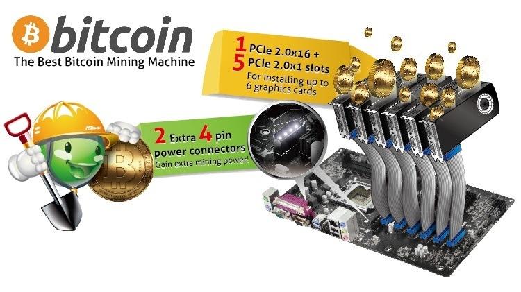 ASRock presenta novedosas placas madre para minar por bitcoins