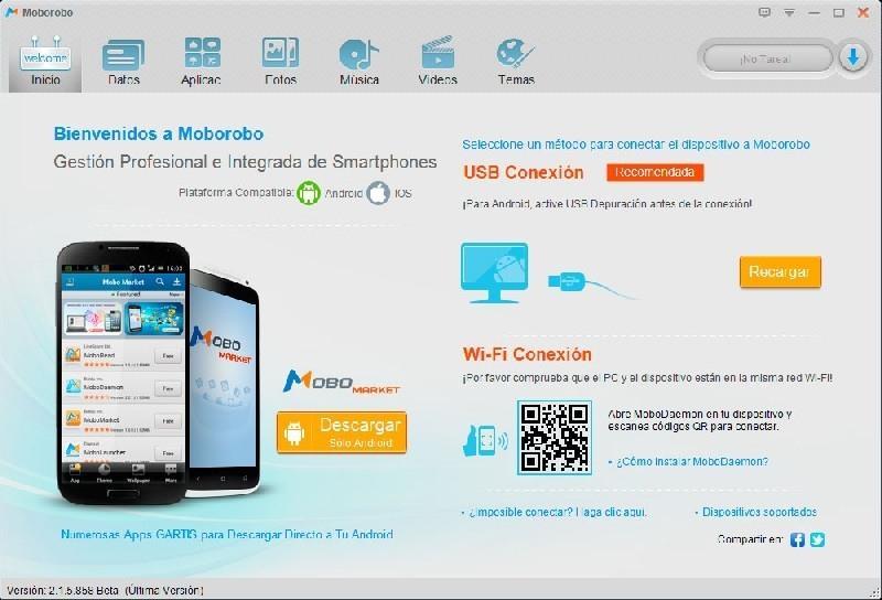 Moborobo, un completo administrador de escritorio de tu smartphone Android