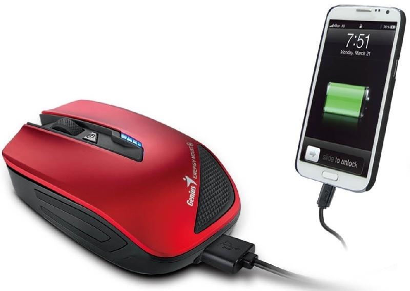 Genius presenta el innovador mouse de doble función con cargador de batería para los smartphones