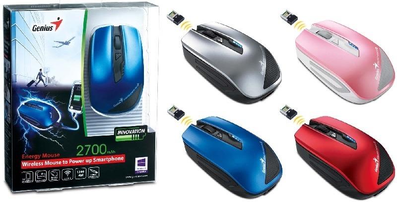 Genius presenta el innovador mouse de doble funci�n con cargador de bater�a para los smartphones