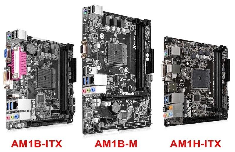 ASRock presenta su nueva Serie de placas madre AM1 para AMD