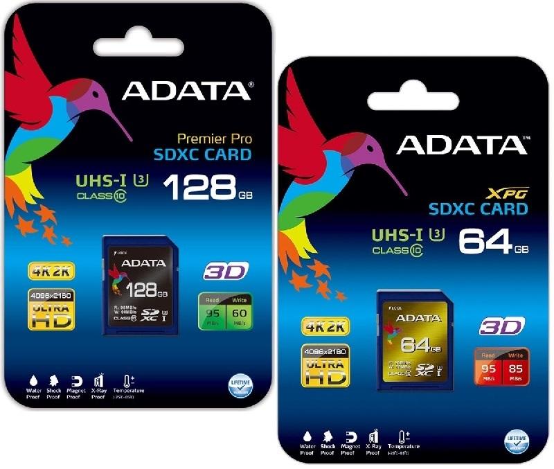ADATA presenta las asombrosas tarjetas de memoria SDXC UHS-I Speed Class 3