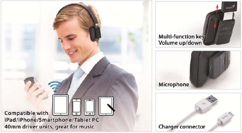 Genius presenta auriculares con Bluetooth 4.0 actualizado