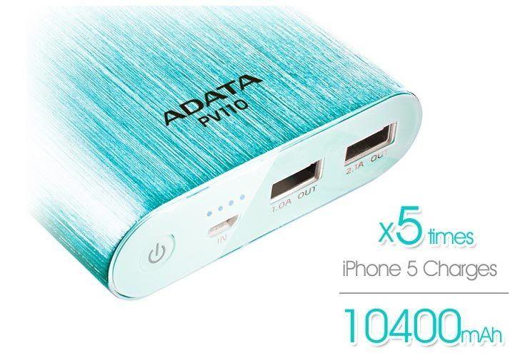 ADATA presenta Power Bank con USB 3.1A dual para una carga simult�nea de dispositivos