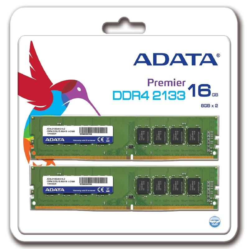 ADATA presenta sus memorias Premier DDR4 2133 U-DIMM