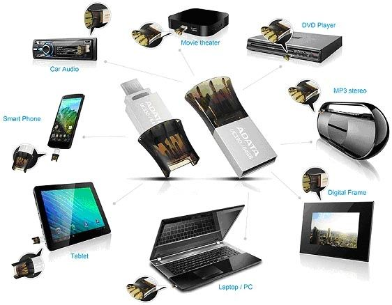ADATA presenta Disco Flash USB Dual para Smartphones & PCs