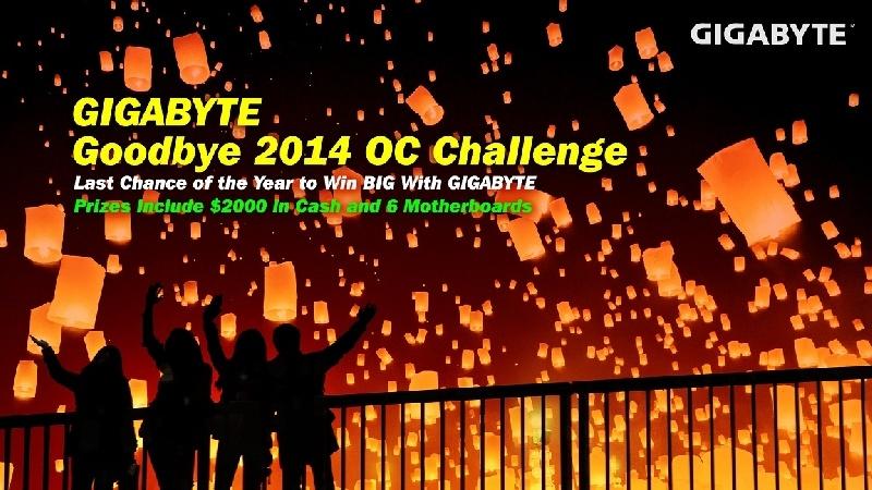 GIGABYTE realiza Goodbye 2014 OC Challenge