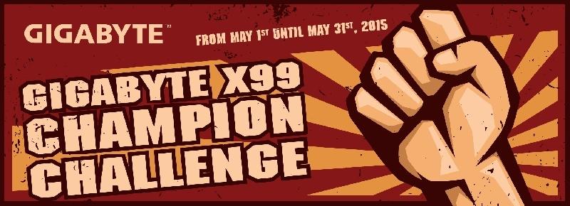 GIGABYTE realiza el torneo X99 CHAMPION CHALLENGE