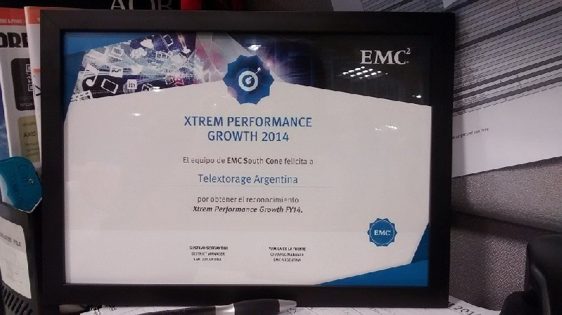 TelexTorage distinguida por EMC