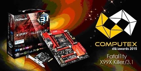 ASRock recibe el premio COMPUTEX d&i 2015