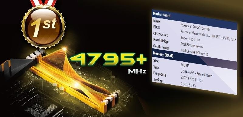 18 of 100   Nuevo R�cord Mundial con ASRock Z170 OC Formula con una frecuencia de Memoria de 4795.4 MHz