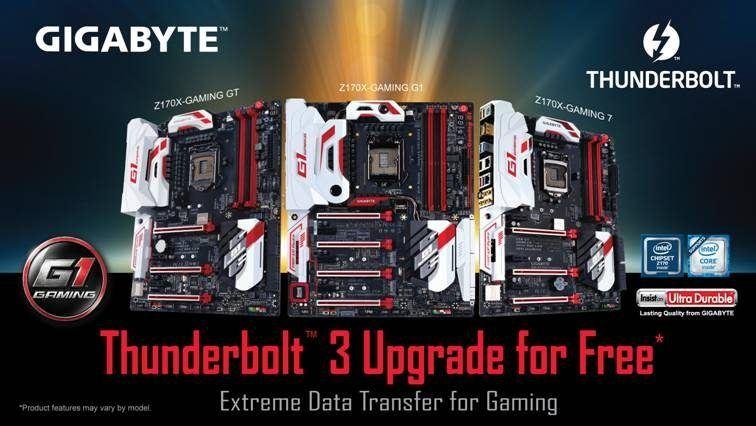Las motherboards de GIGABYTE tienen soporte de Intel Thunderbolt 3