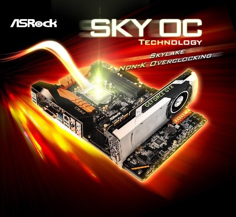 La tecnología SKY OC de ASRock permite realizar Overclock en todos los procesadores Skylake