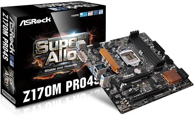 ASRock presenta los motherboards Z170 Pro4S y Z170M Pro4S