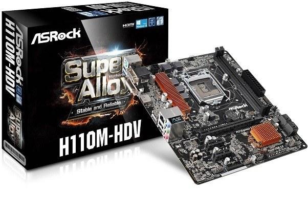 ASRock: motherboards con chipset H110 para la 6� generaci�n de procesadores Core de Intel
