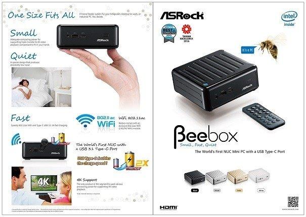 ASRock anuncia nuevos modelos de Beebox