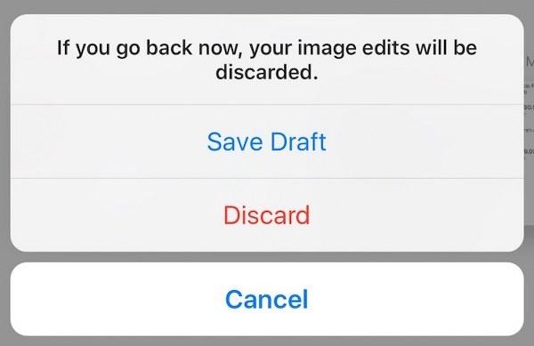 Instagram ahora también te permite guardar en borradores una foto