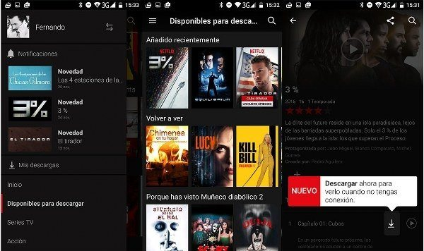 Formas de descargar los contenidos de Netflix en modo offline
