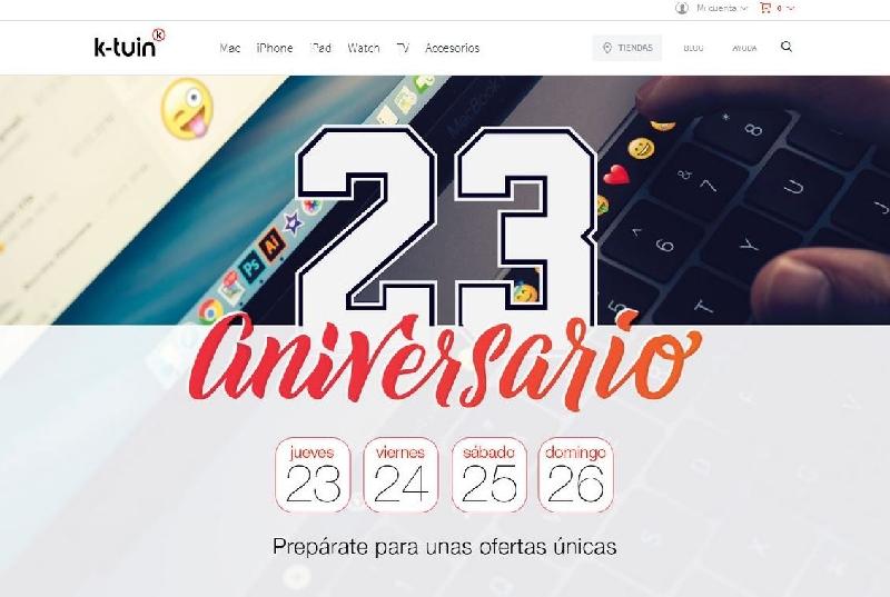 K-tuin cumple 23 años y lo celebra con descuentos especiales Apple