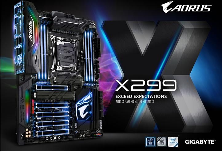 GIGABYTE presentó Motherboards X299 AORUS Gaming