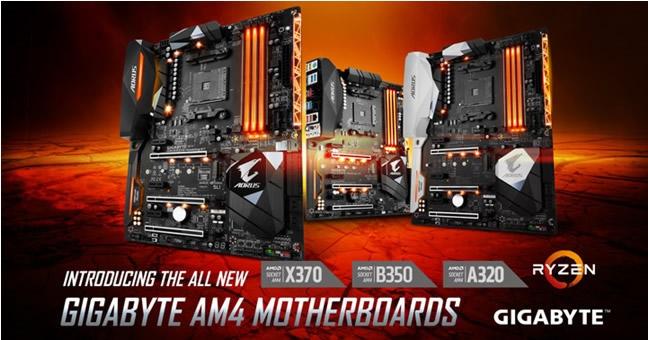 GIGABYTE presenta Motherboards AM4 para los Procesadores AMD Ryzen™ 3