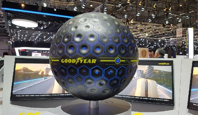 El neumático del futuro será esférico según Goodyear