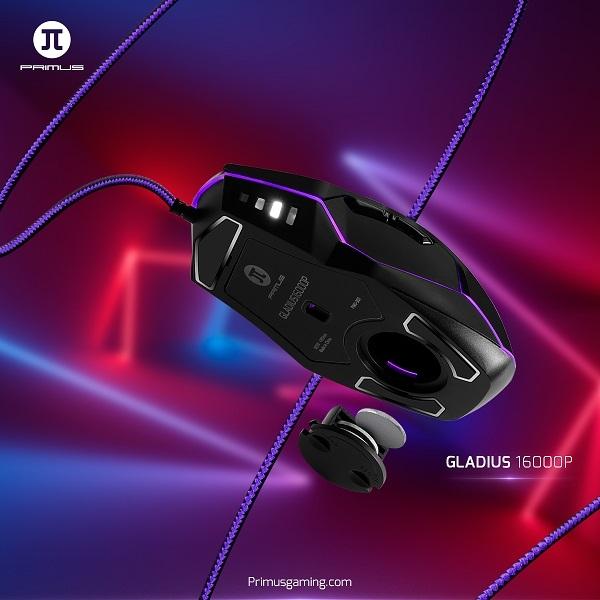 PRIMUS presenta el Mouse GLADIUS 16000P
