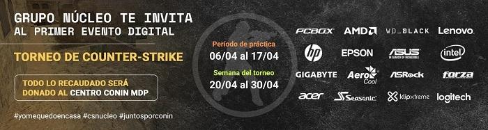 Grupo N�cleo anuncia su primer evento digital organizando un Torneo de Counter Strike